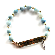 Load image into Gallery viewer, Bracelet - With Brave Wings She Flies Bracelet // Delicate Gemstone Bead Bracelet // Motivational Gift