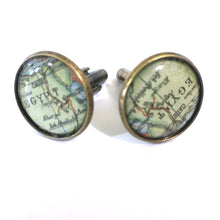 Load image into Gallery viewer, Cufflinks - Egypt Vintage Map Cufflinks