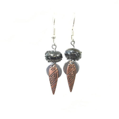 Earrings - Black Coffee Earrings - 10:100 Day Project