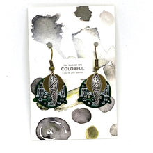 Load image into Gallery viewer, Earrings - Circuit Board Tribal Earrings