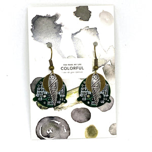 Earrings - Circuit Board Tribal Earrings