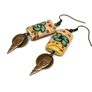 Earrings - Desert Flower Dangle Earrings
