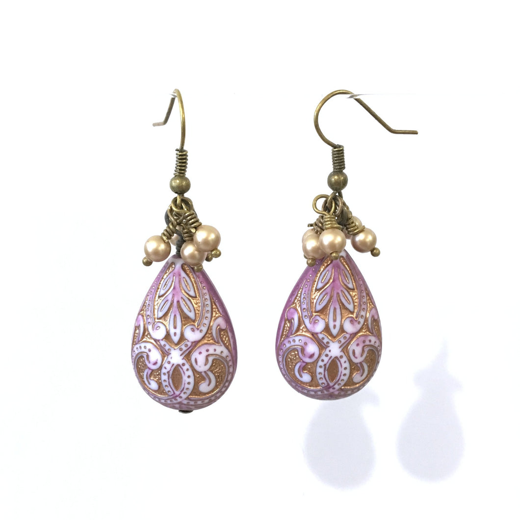 Earrings - Faberge Tears Earrings - 14:100 Day Project