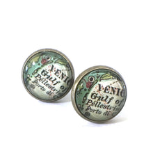 Load image into Gallery viewer, Earrings - Venice Vintage Map Post Earrings