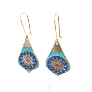 Earrings - Vibrant Mandala Earrings In Bronze