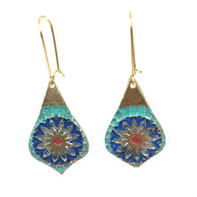 Load image into Gallery viewer, Earrings - Vibrant Mandala Earrings In Bronze