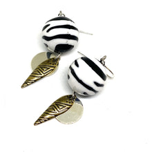 Load image into Gallery viewer, Earrings - Zebra Tribal Dangle Earrings