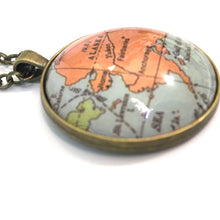 Load image into Gallery viewer, Necklace - Alaska Vintage Map Large Pendant