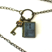 "Load image into Gallery viewer, Necklace - Begin - Diva Pendant From Antique Bronze Chain - Simple Statement Necklace - 30"" Long - Papersonal - Clay Space"
