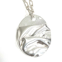 Load image into Gallery viewer, Necklace - Cascade Fine Silver Oval Pendant
