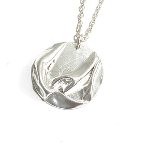 Necklace - Como Fine Silver Circle Pendant