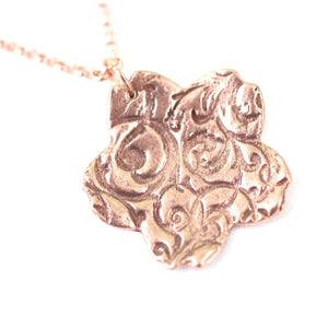 Necklace - Flourish Sakura Copper Small Pendant // Perfect Gift For Her