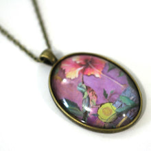 "Load image into Gallery viewer, Necklace - Humming Bird - Bird Pendant From Antique Bronze Chain - Simple Statement Necklace - 24"" Long - Papersonal - Clay Space"