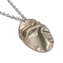 Load image into Gallery viewer, Necklace - Lucerne Steel Oval Pendant