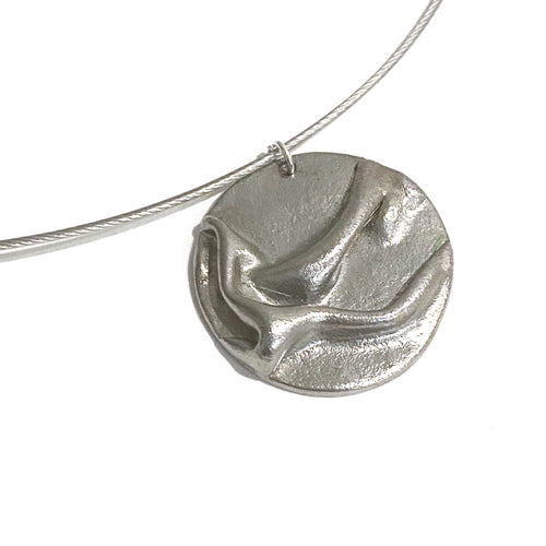 Necklace - Lynn Steel Circle Pendant