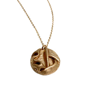 Necklace - Maya Rose Bronze Large Circle Pendant