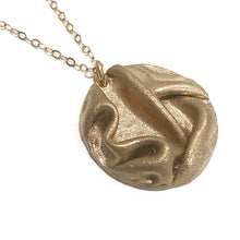 Load image into Gallery viewer, Necklace - Maya Rose Bronze Large Circle Pendant