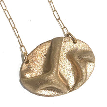 Load image into Gallery viewer, Necklace - Morgan Rose Bronze Oval Pendant