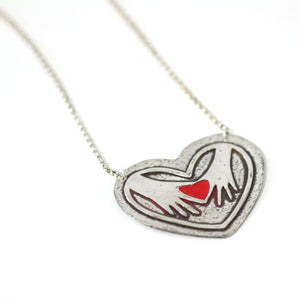 Necklace - My Heart Is In Your Hands // Perfect Gift For Mom // Donate To A Cause