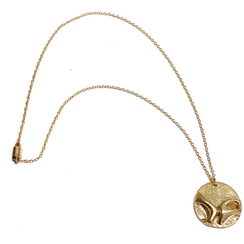 Necklace - Noelani Bronze Circle Pendant