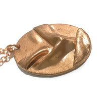 Load image into Gallery viewer, Necklace - Rialta Copper Oval Pendant