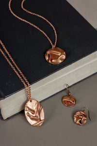 Necklace - Rialta Copper Oval Pendant
