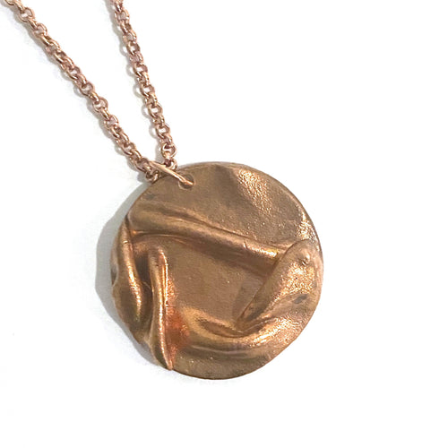 Necklace - Ripley Copper Circle Pendant