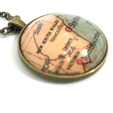 Load image into Gallery viewer, Necklace - Sydney Vintage Map Large Pendant