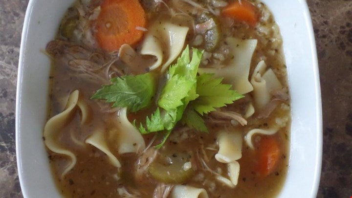 Leftover Turkey Soup for After-Thanksgiving Warming Dinner: Easy in VitaClay Amazing Soup Cooker