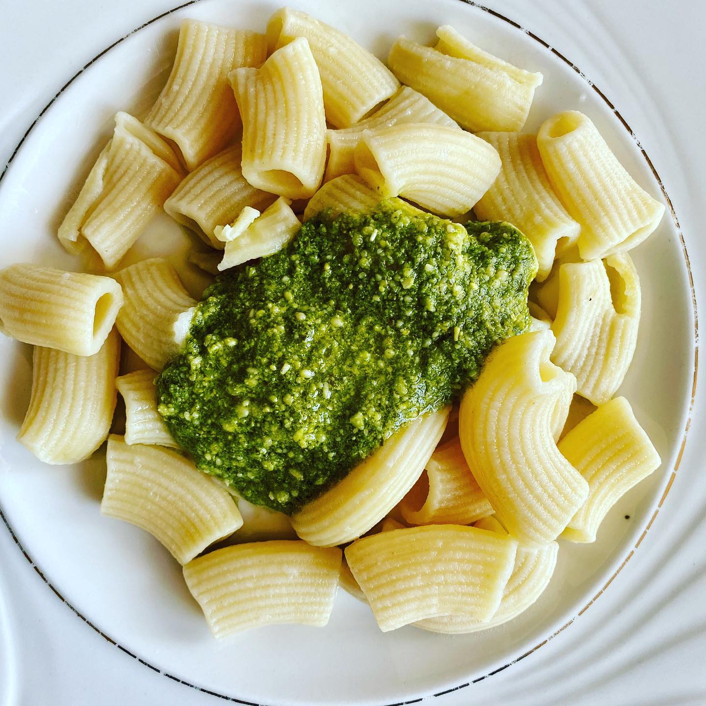 30 minutes One Pot Meal Artisan Pasta Rigatoni in Pesto Sauce from VitaClay
