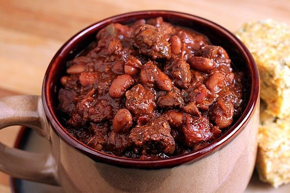 Hearty, Thick Sirloin Chili: Best Ever in Clay!