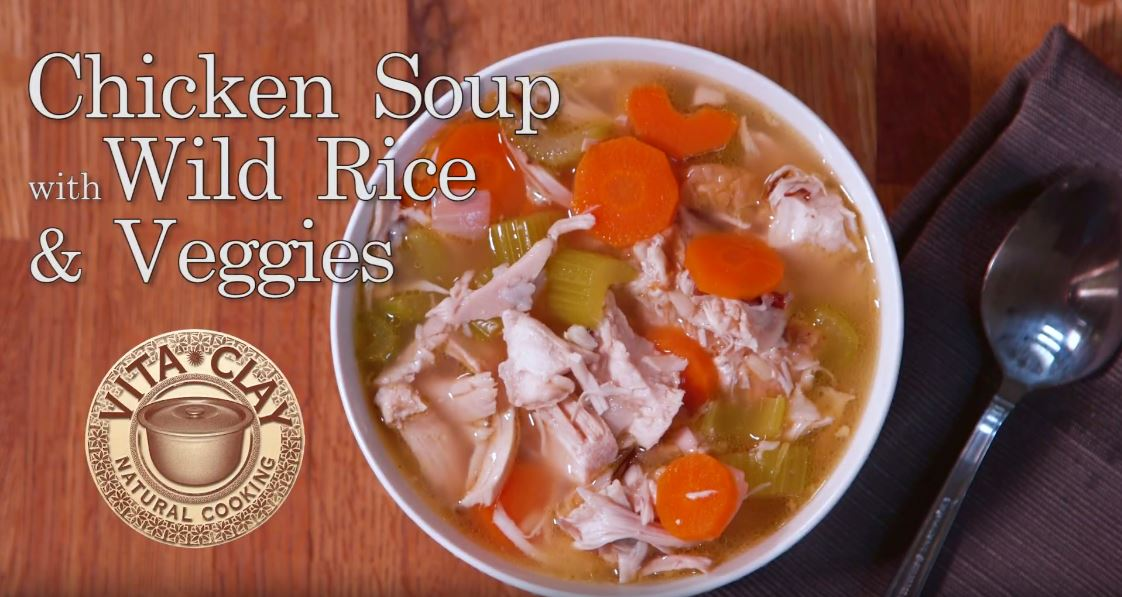 Chicken Soup with Wild Rice & Veggies (Video Recipe)
