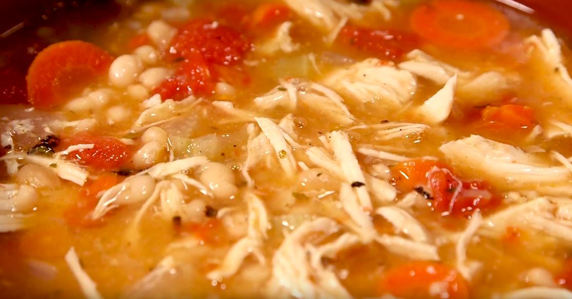 Tuscan Chicken and White Bean Soup (Video Recipe)