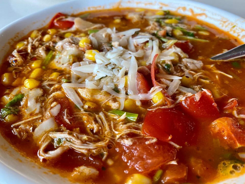 30 Minutes Tasty Chicken Tortilla Soup Made in VitaClay