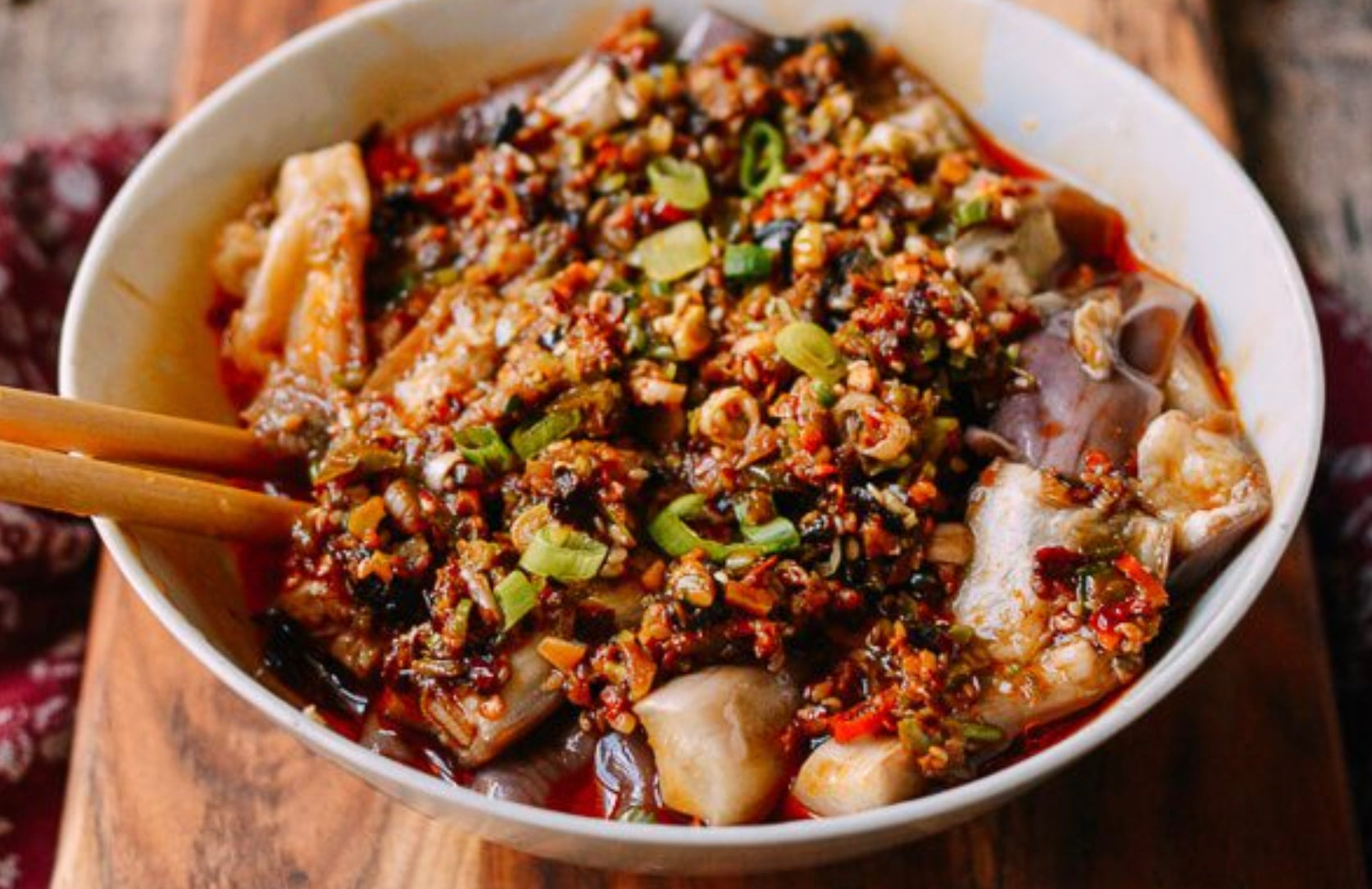 Steamed Eggplant In Hunan Chili Sauce
