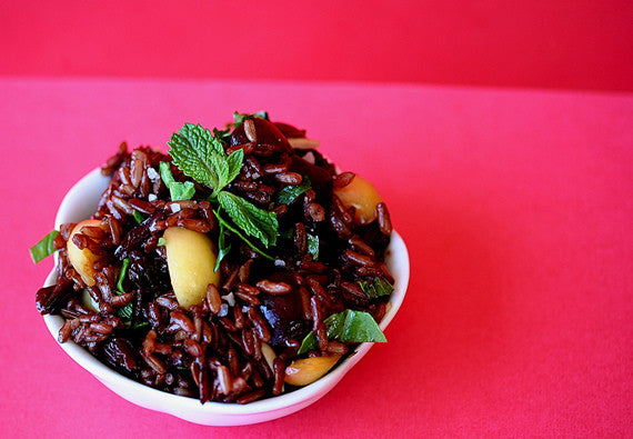 Oriental Wehani Rice Salad: Exotic Made in Clay!