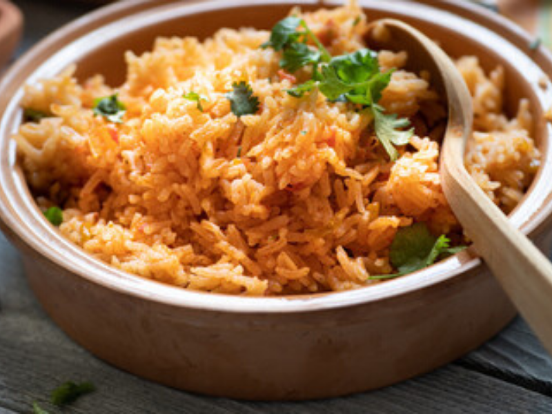 Clay-pot Spanish Rice in VitaClay Rice Cooker