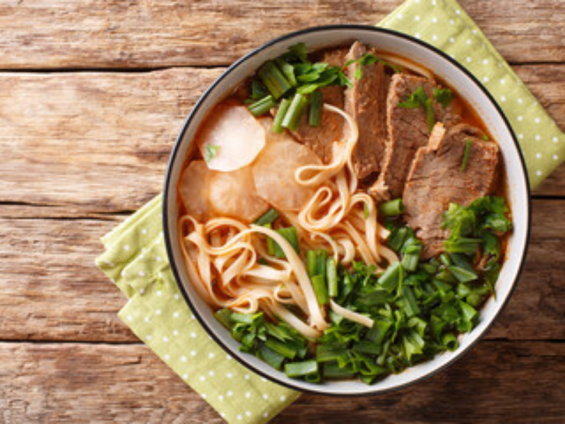 Energy-Reviving Beef Noodle Soup in VitaClay Slow Cooker