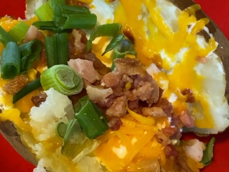 Loaded Potatoes Made in 50 Minutes in VitaClay Fast Slow Cooker