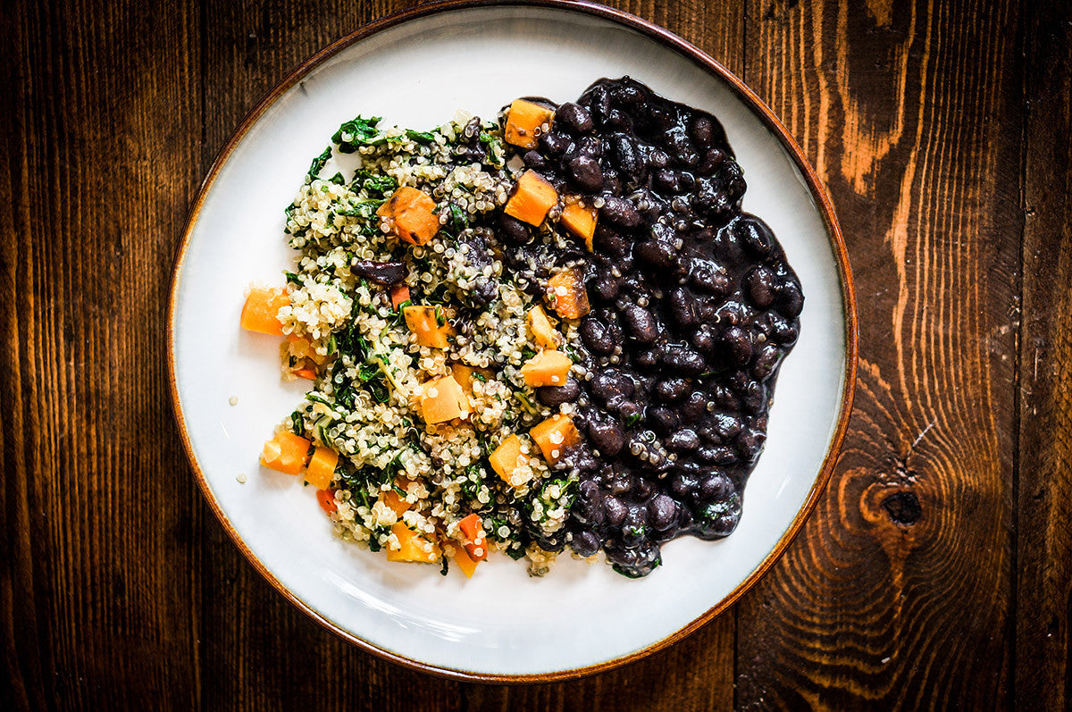 Quinoa and Black Bean Salad, A Dinner of Gold!