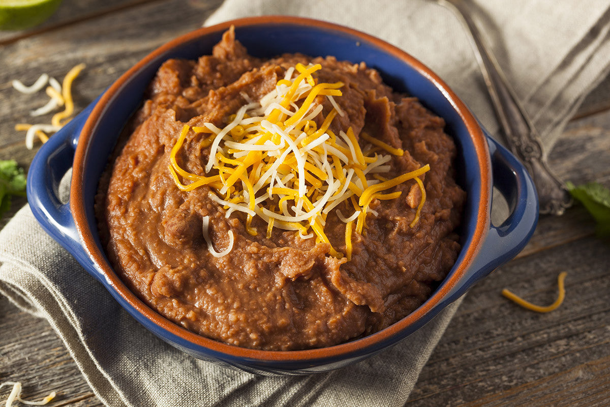 Slow Cooked VitaClay Refried Beans for Meatless Monday and Taco Tuesday!