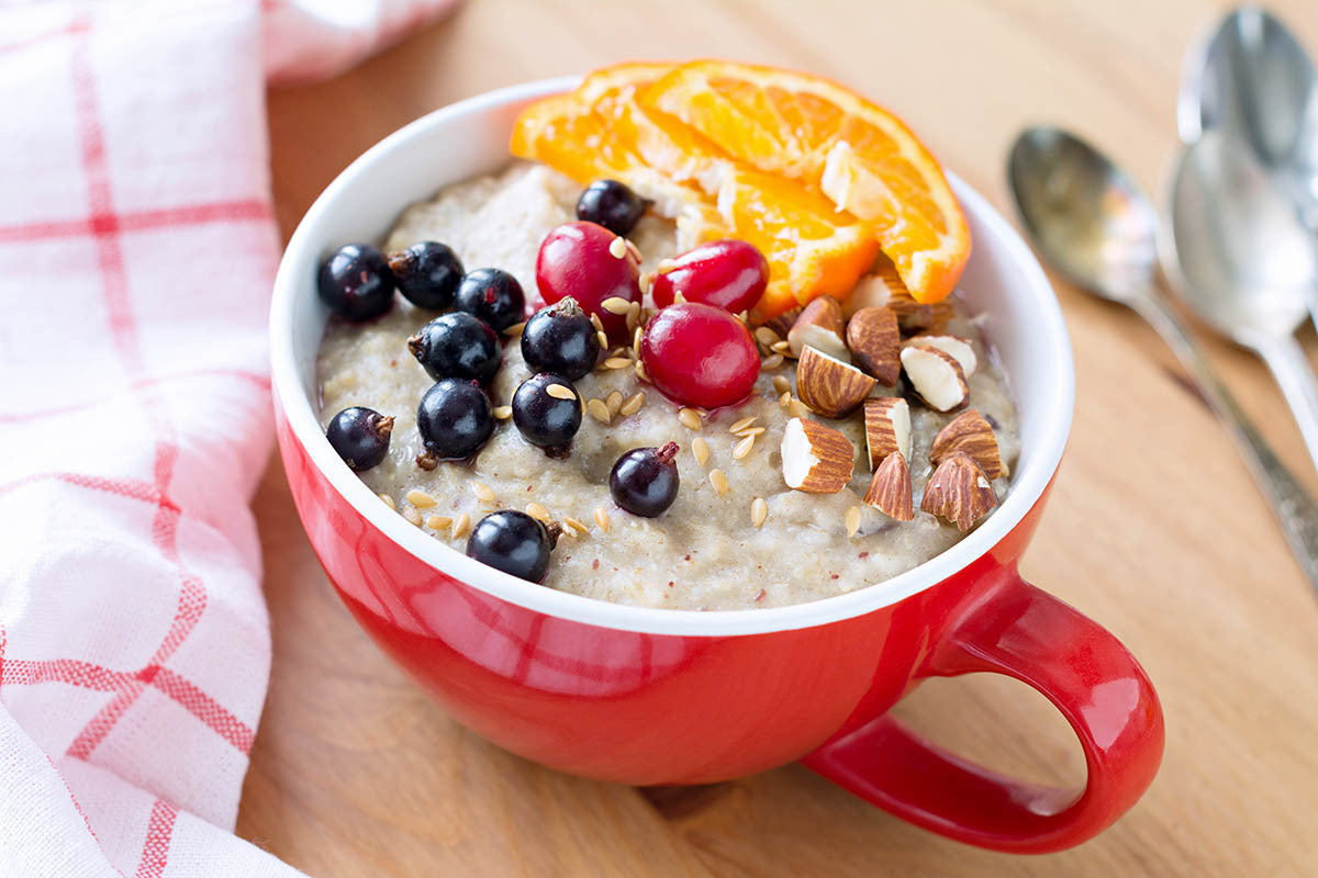 Clay-Perfect Cranberry Almond Steel-Cut Oatmeal