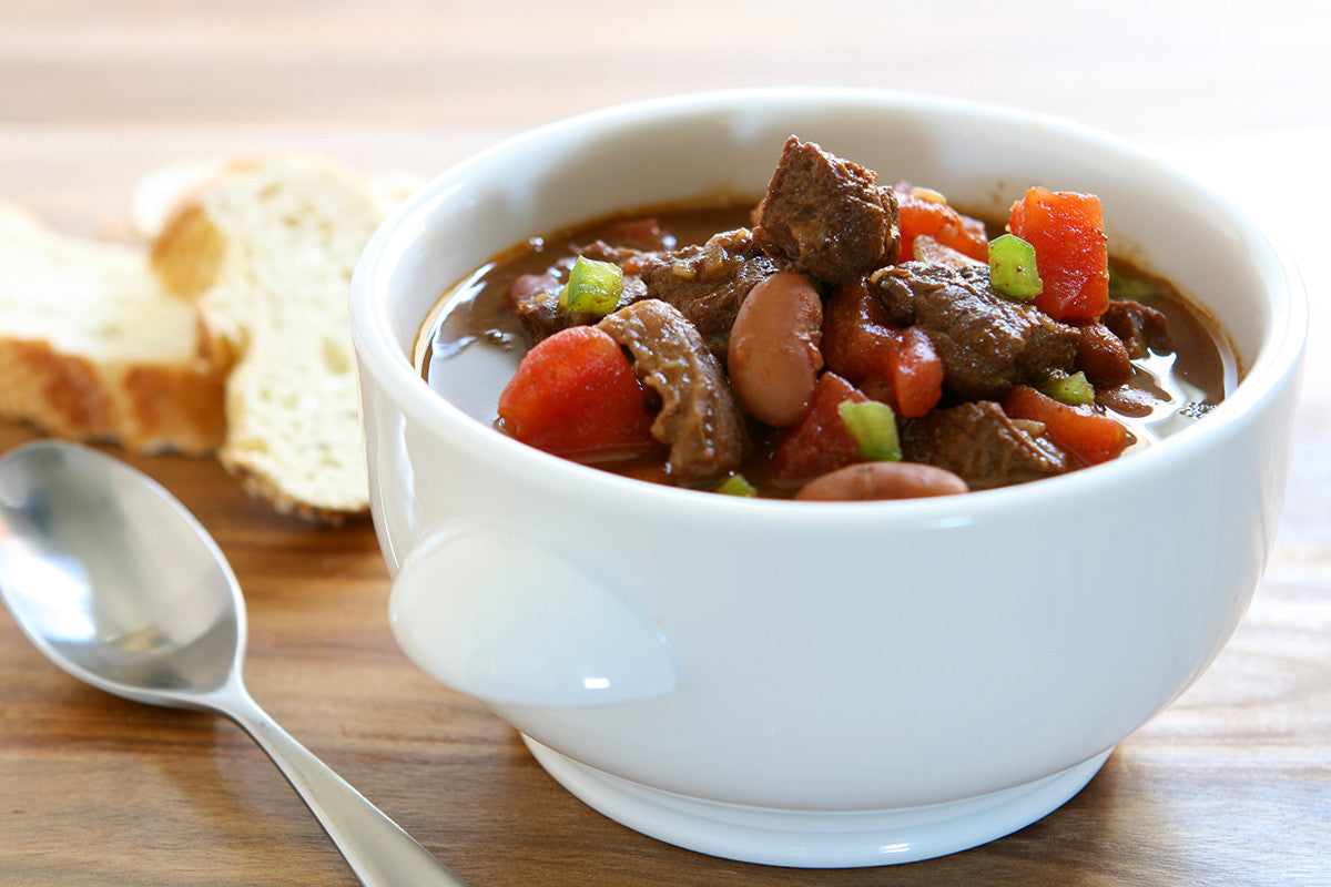 Soup Sundays - Spicy Beef Stew with Beans & Peppers