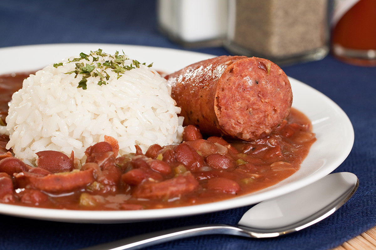 Cajun Red Beans & Rice with Sausage: One Pot Meal in Clay!