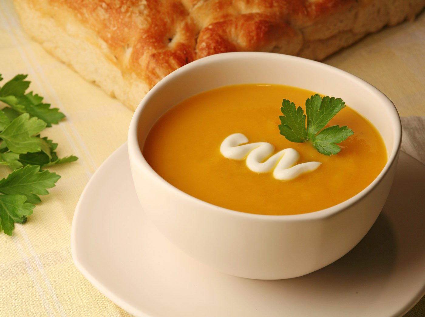 Pumpkin Soup with Lime Drizzle