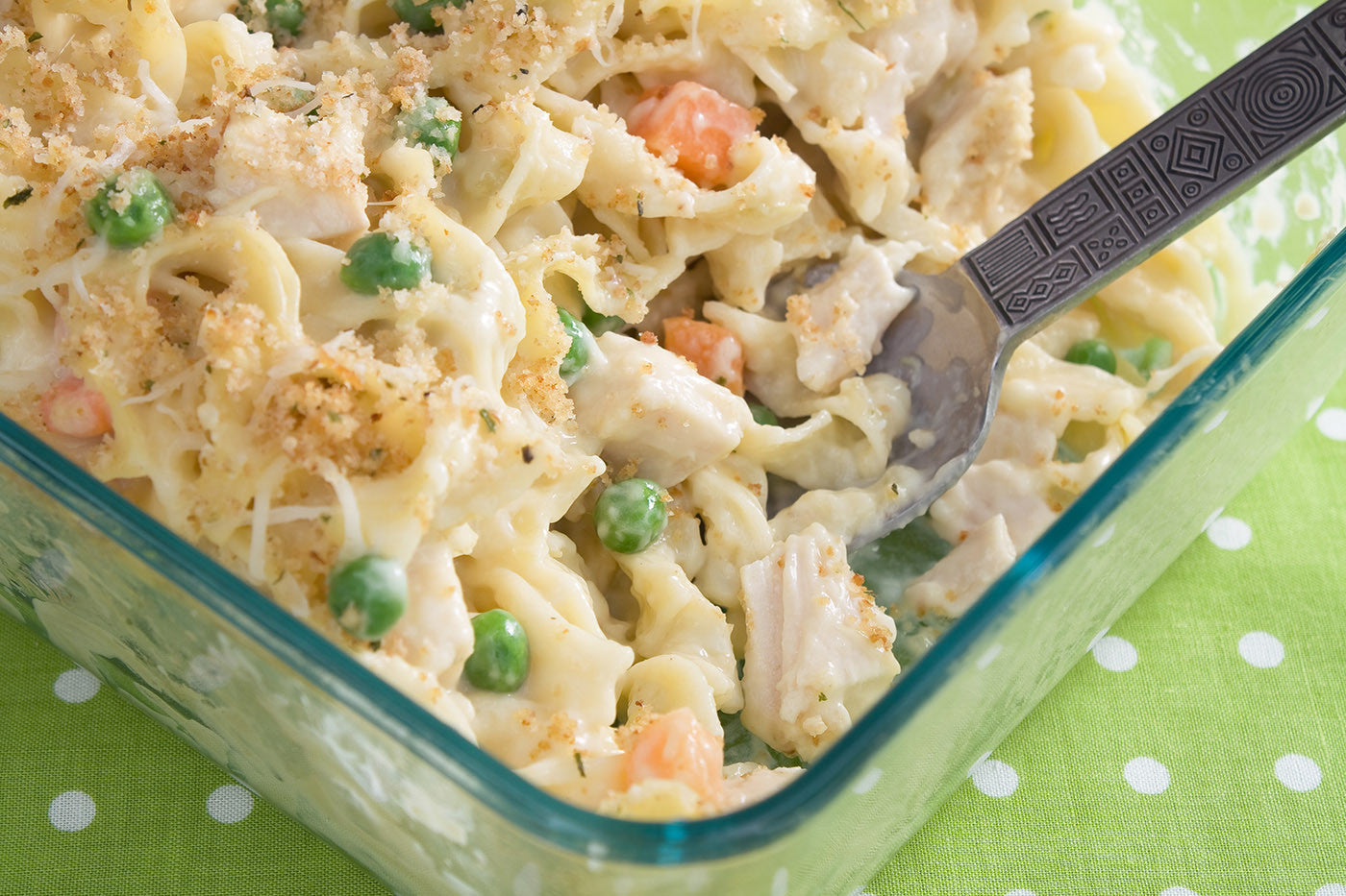 Chicken Noodle One Pot Casserole in Clay