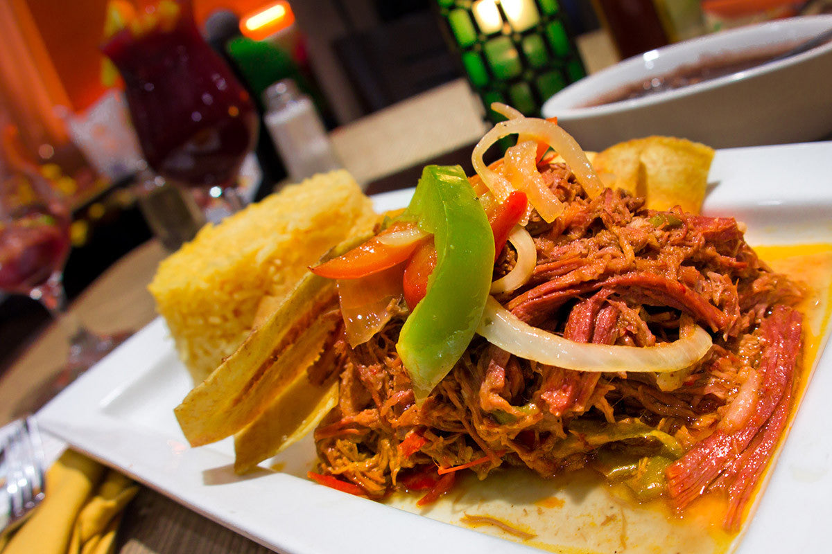 Cuban Style Shredded Beef Cooked in Clay (Ropa Vieja)