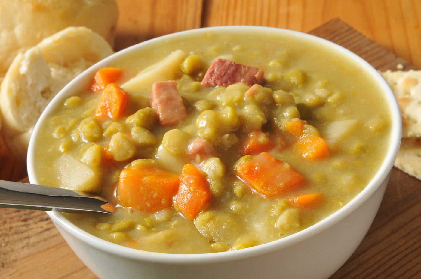 Easy Peasy Homemade Split Pea Soup in Clay