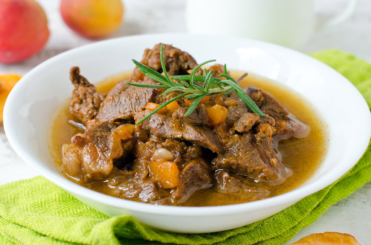 Moroccan Beef and Apricots In Your Clay Pot Slow Cooker