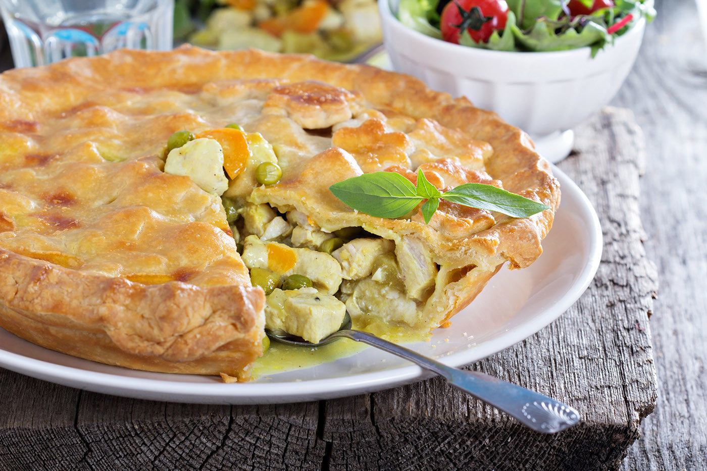 Slow Cooked Curry Chicken Pot Pie in Clay